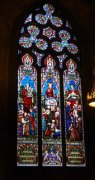 Window by Ballantine of Edinburgh (second window from west) on south elevation of nave.  Image ID: 4666_44.JPG