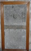 Tombstone of Hugh Spens, leaning against west wall of ante-chapel. Image: Jennifer McDonald (February 2008).  Image ID: 4666_17.JPG