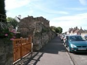 Crail Priory walls on Nethergate. Image: Kirsty Owen (August 2007)  Image ID: s4673_01.JPG