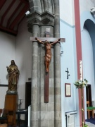 Cross and statue