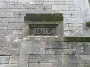 Datestone in the west elevation of Lord Ninian Crichton Stuart Memorial Chapel: Kirsty Owen (September 2007)  Image ID: s4698_10.JPG