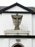 Statue on the roof of Pittenweem Roman Catholic Church
