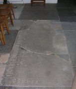 Floor memorial slab in Nave. Image: Miriam Buncombe (May 2008)  Image ID: 4715_30.jpg
