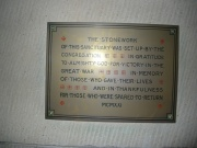 Tablet commemorating World War I
