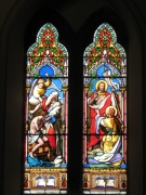 Stained glass in the nave
