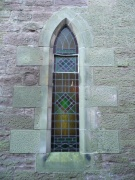 Lancet window in the south wall