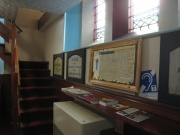 Display area at back of church