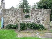 The remains of the aisle's south gable
