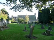 View of the graveyard to the north of the church hall. Image: Ewan Malecki (October 2007)  Image ID: 7758_15.JPG