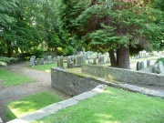 View of the graveyard