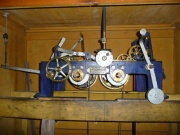 View of the clock mechanism