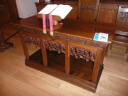 Communion table from north-east