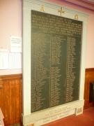 War memorial in vestibule