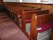 Pews, from the north