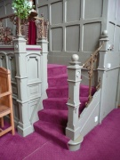 Stairs to pulpit