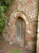 Priest's door in the south elevation of St. Magridin's Church at Abdie. Image: Kirsty Owen (June 2007)  Image ID: s870_29.JPG