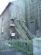 Support holding the west elevation of the Anstruther Church. Image: Kirsty Owen (October 2007)  Image ID: s889_09.JPG