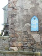 Damage to the west elevation of the Anstruther Church. Image: Kirsty Owen (October 2007)  Image ID: s889_06.JPG