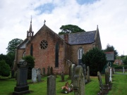 The church and graveyard from the south