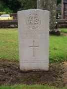 A World War Two gravestone in the graveyard