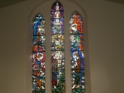 The west stained glass window