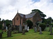 The church and graveyard from the south-east